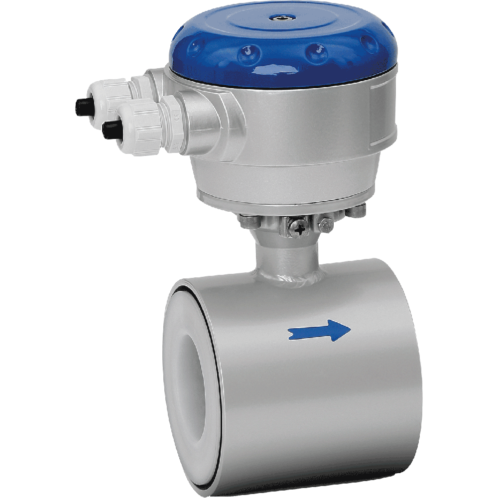 Electromagnetic flowmeter  in sandwich design. Easy to install. Affordable price. Maintenance free. Excellent chemical resistance.