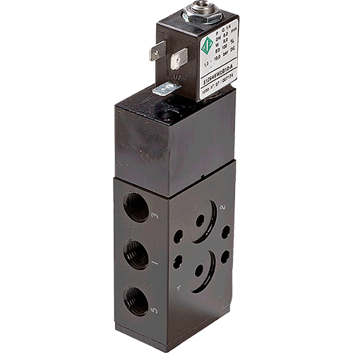 Solenoid valve Namur for direct mounting on pneumatic actuators.