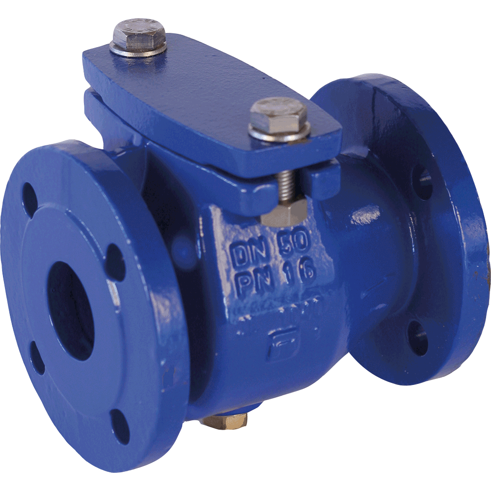 Swing check valve for a wide range of applications in potable and waste water systems. Full bore. Low pressure drop. Drinking water approval according to W270.