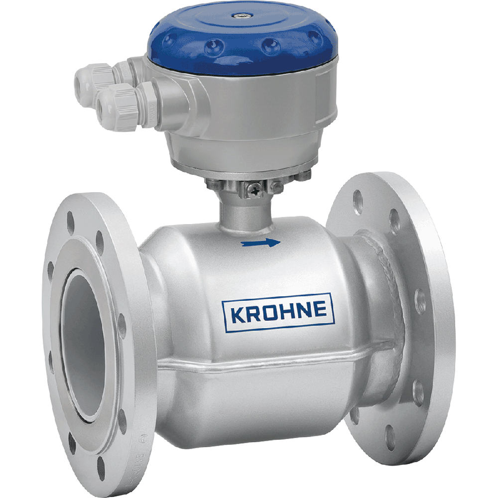 Electromagnetic flowmeter in flanged design. Easy to install.  Maintenance free. Long-term reliability and  negligible maintenance.