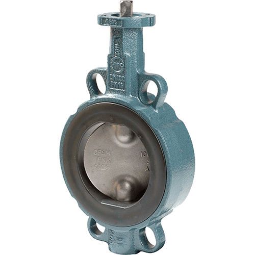 Ebro butterfly valve for general applications with liquids, air, and gases. Standard split two-piece shaft design with triple shaft bearings. Mounting flange according to ISO 5211. Designed to be mounted between flanges according to DIN 2501. DN 350-600 in ductile iron.