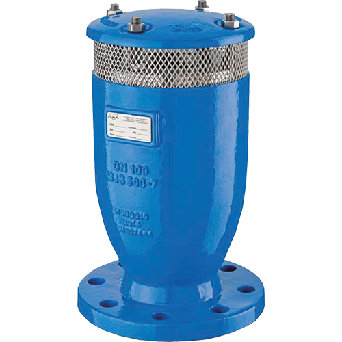 Water combination air valve. Ensures the proper operation of the pipeline networks allowing the release of the air pockets during working conditions, the evacuation and the entrance of large volumes of air in case of filling and draining operations.