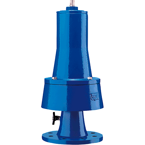 Anti water hammer valve used to cushion the water hammer effect. It will discharge a sufficient quantity of water to avoid overpressure in the pipeline.