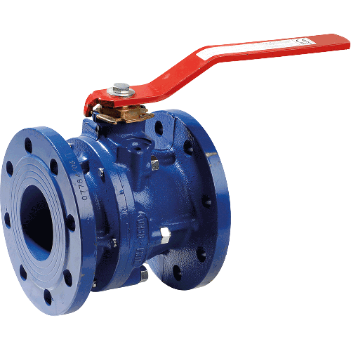 Ball valve for liquids and gases (not steam). Full bore. Blow-out proof stem.