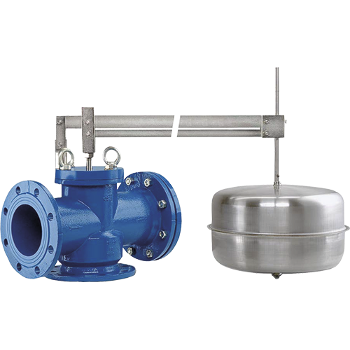 3-way float valve for tanks regulation and control. Installation possible  both in vertical and horizontal position. Valve closes when the liquid level rises.