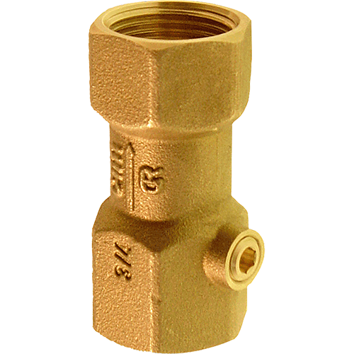 Piston check valve for preventing the contamination of potable water as a result of backflow.