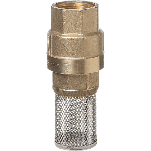 Foot Valve in brass for liquids and gases. Female threaded. Low opening pressure.