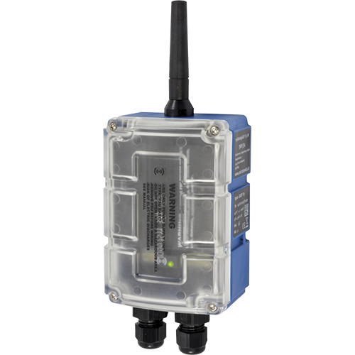 Compact GPRS data logger with 4 inputs. Compact construction with integrated battery compartment. Switchable sensor supply voltage. Built-in measurement value memory, 177 days capacity, protection IP 66.