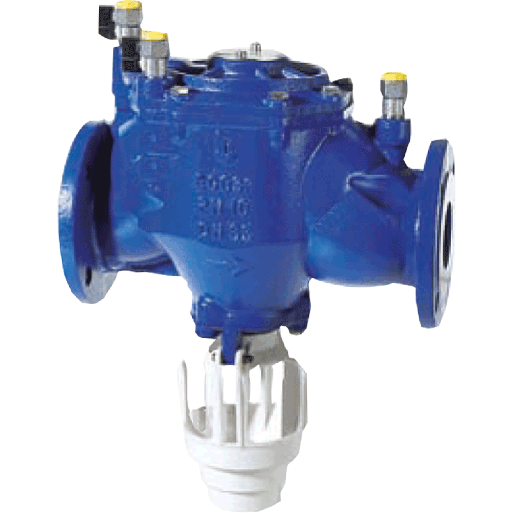 Backflow preventer with controllable reduced pressure zone. Reduced pressure principle prevents potentially contaminated fluid polluting the supply system.