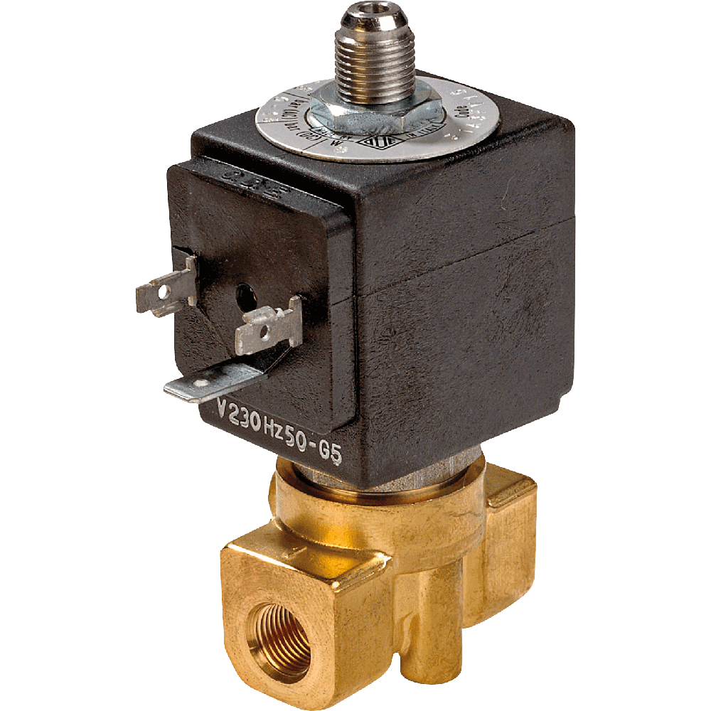 Direct acting solenoid valve for water, air, and gases.