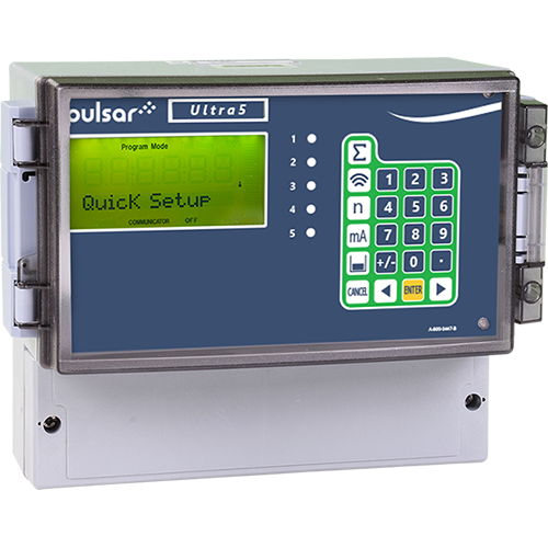 Level meter instrument that combines several full-function, world-beating ultrasonic level measurement instruments into one. Five assignable relays. Perfect for the wide range of level measurement applications in solids and liquids.