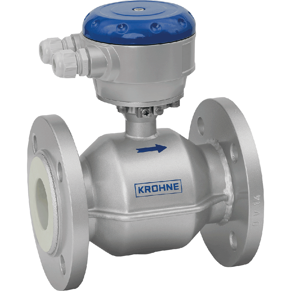Electromagnetic flowmeter in flanged design. Easy to install. Maintenance free. Hastelloy electrodes. Long-term reliability and negligible maintenance.