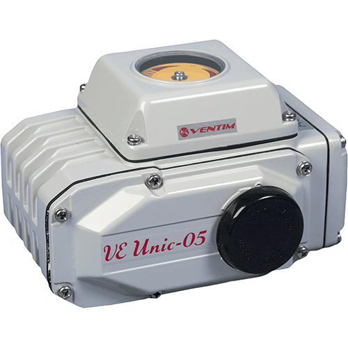Koei electric actuator for ball valves and butterfly valves. Low weight and maintenance free with high torque. Reversible motor with internal thermo protector. Optional mounting position.