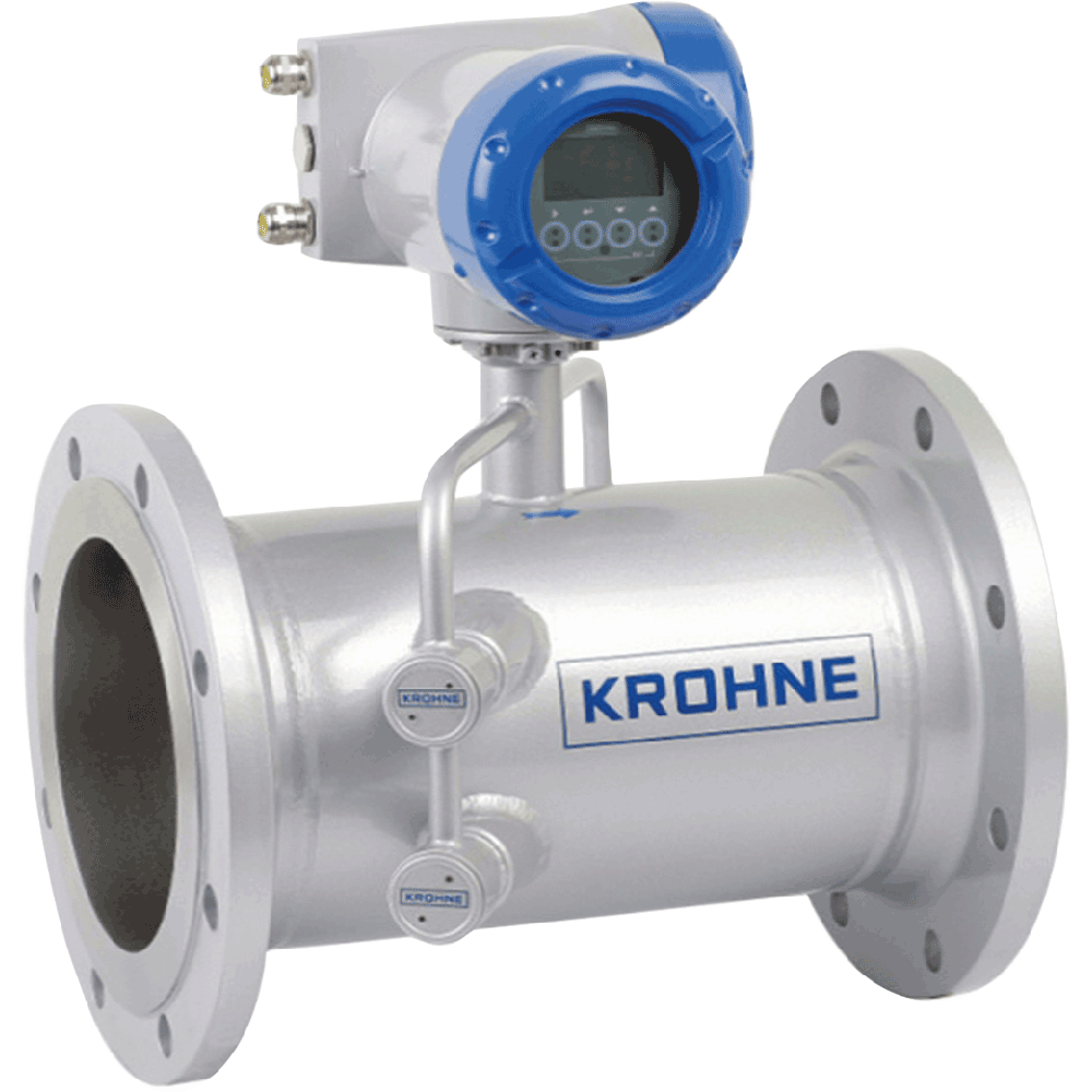 Ultrasonic gas flow sensor dedicated for process gas flow applications. Independent of gas density and composition to a large extend. No maintenance. No recalibration. Integrated volume correction to standard conditions using P, T measurement. No moving parts, no pressure loss.