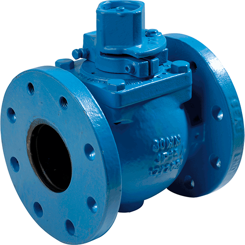 Eccentric plug valve fully encapsulated in an elastomeric polymer. Used for a wide range of flow control and isolation applications including clean and dirty water, sewage, sludge and slurries, air and other services.