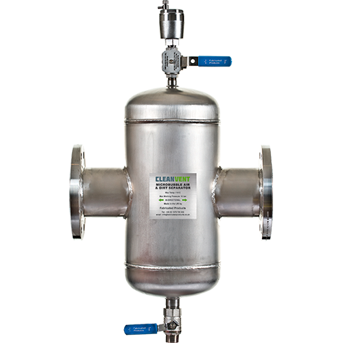 <p>The combined air (deaerator) and dirt separator combines the removal of air and dirt through a single unit. Installed in the hottest point in the system it will eliminate these micro bubbles from heating and chilled water systems.</p>