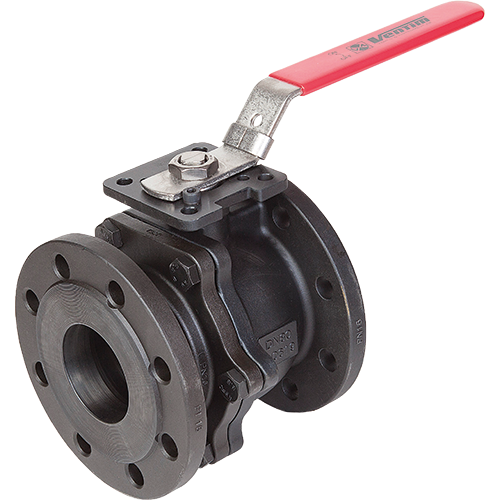 Ball valve for liquids and gases. Blow-out proof stem. Adjustable  stuffing box. Fire-safe. Antistatic. ISO-flange for mounting of  actuator.