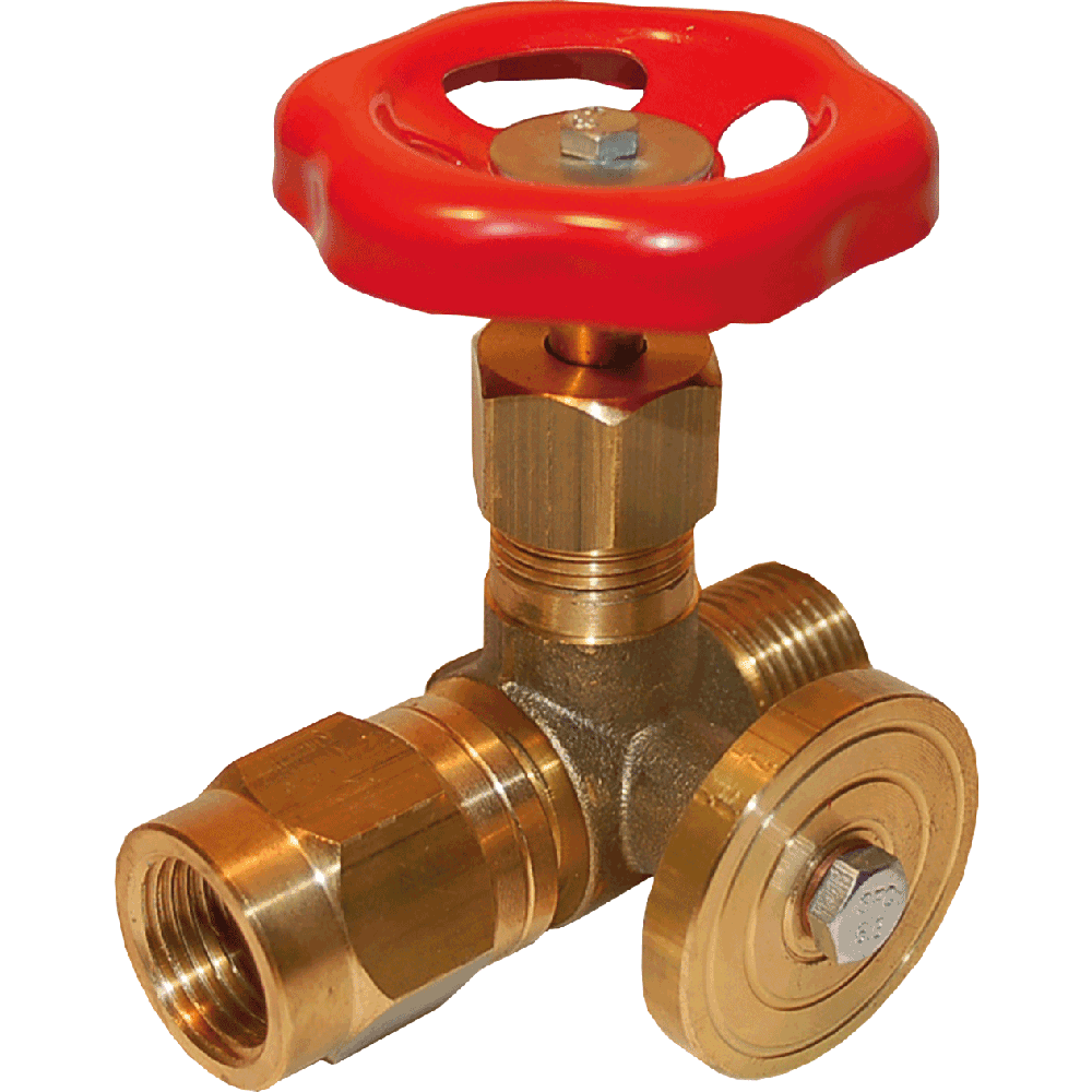 Control manometer valve suitable for liquids and gases. Body and  bonnet made in one piece. Connection device for mounting of pressure  meter. Maintenance free. Easy to operate.